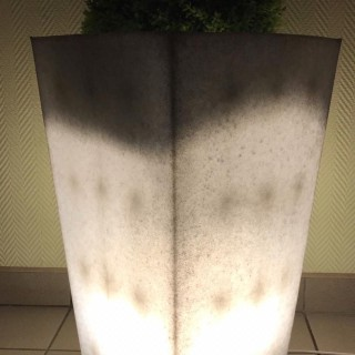 Светящееся кашпо (цвет гранит)