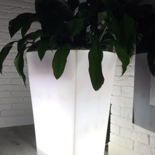 Светящееся кашпо (цвет белый)