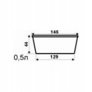 d=145мм Баночка 0,5 л